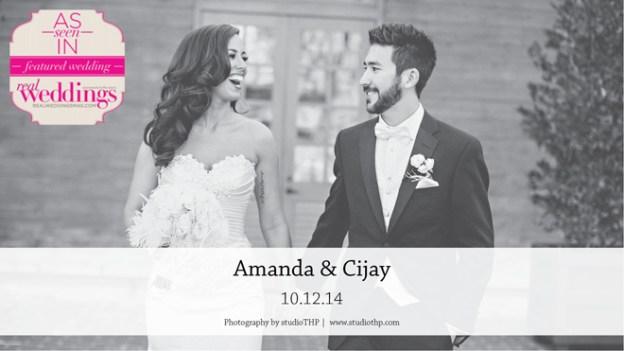 Napa Wedding Inspiration: Amanda & Cijay {from the Summer/Fall 2015 Issue of Real Weddings Magazine}