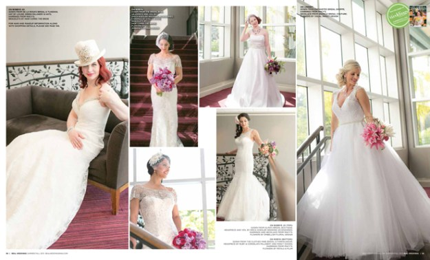 "As seen in the ""City Girls"" cover model contest finalist photo shoot in the Summer/Fall 2015 issue Real Weddings Magazine, www.realweddingsmag.com"