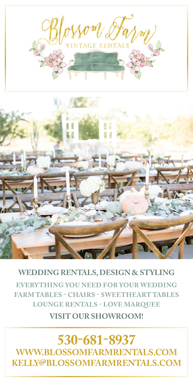 Sacramento Wedding Rentals | Sacramento Wedding Decor | Northern California Rustic Rentals | Northern California Wedding Rentals