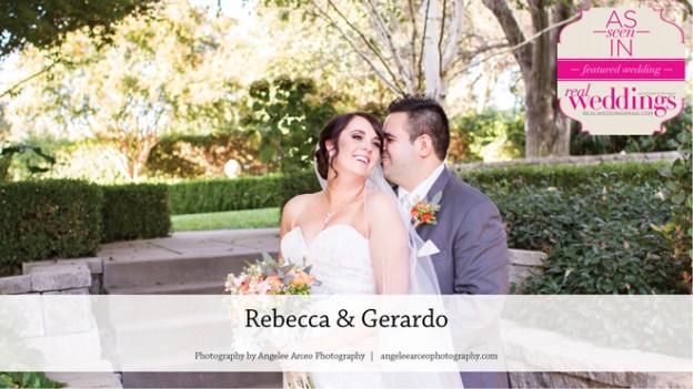 Isleton Wedding Inspiration: Rebecca & Gerardo {From the Summer/Fall 2016 Issue of Real Weddings Magazine}