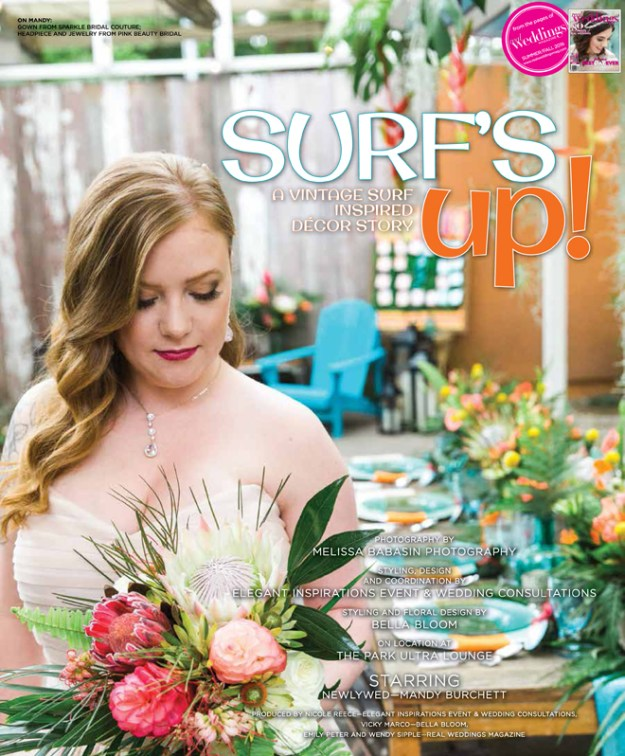 Sacramento Wedding Inspiration: Surf's Up {The Layout} from the Summer/Fall 2016 issue of Real Weddings Magazine