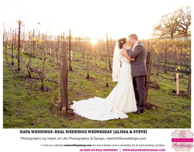 Napa Weddings: Real Weddings Wednesday {Alissa & Steve}