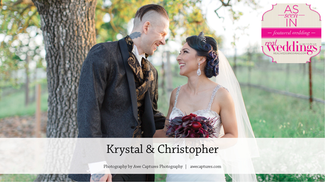 Napa Wedding Inspiration: Krystal & Christopher {From the Winter/Spring 2017 Issue of Real Weddings Magazine}
