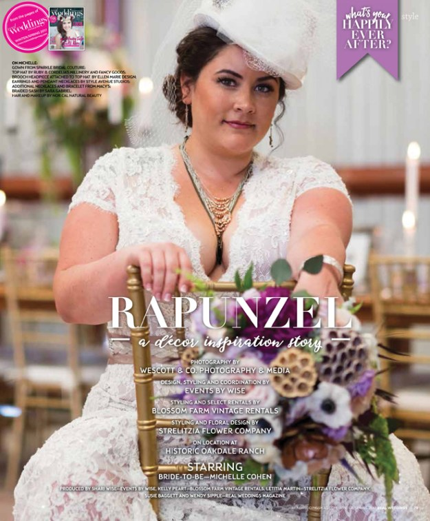 Sacramento Wedding Inspiration: Rapunzel {The Layout} from the Winter/Spring 2017 issue of Real Weddings Magazine