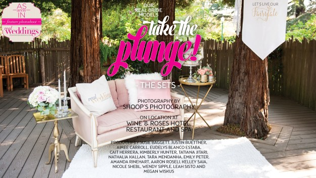 Sacramento Wedding Inspiration: Take The Plunge {The Sets} from the Winter/Spring 2017 issue of Real Weddings Magazine