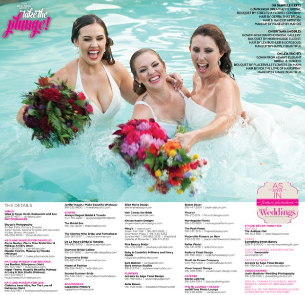 Sacramento Wedding Inspiration: Take The Plunge {Behind The Scenes + The Extra Shots!} from the Winter/Spring 2017 issue of Real Weddings Magazine