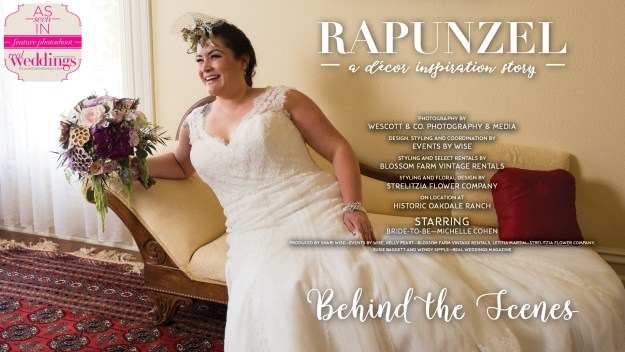 Sacramento Wedding Inspiration: Rapunzel {Behind-The-Scenes Video + The Extra Shots!} from the Winter/Spring 2017 issue of Real Weddings Magazine
