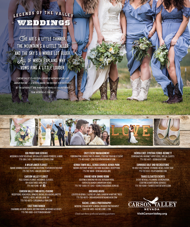 Carson Valley Weddings | Nevada Destination Weddings