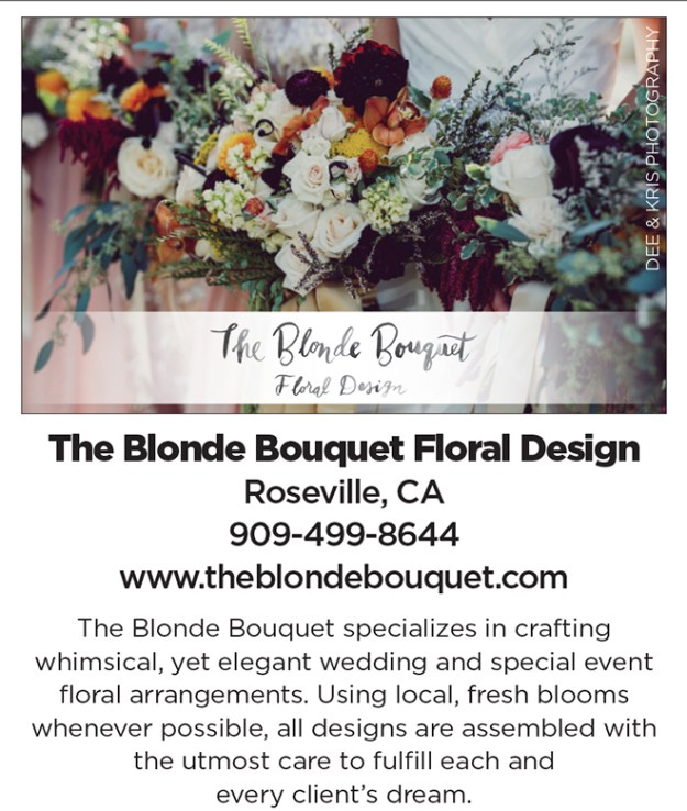 The Blonde Bouquet | Roseville Wedding Florist | Sacramento Wedding Florist | Wedding Florist | Organic Wedding Flowers