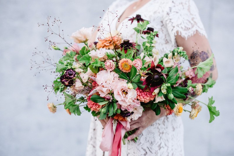 Real Weddings Magazine Special Offer Discount Flourish Bridal Bouquet Locally Grown Sourced Flowers |  Best Sacramento Tahoe Northern California Vendors