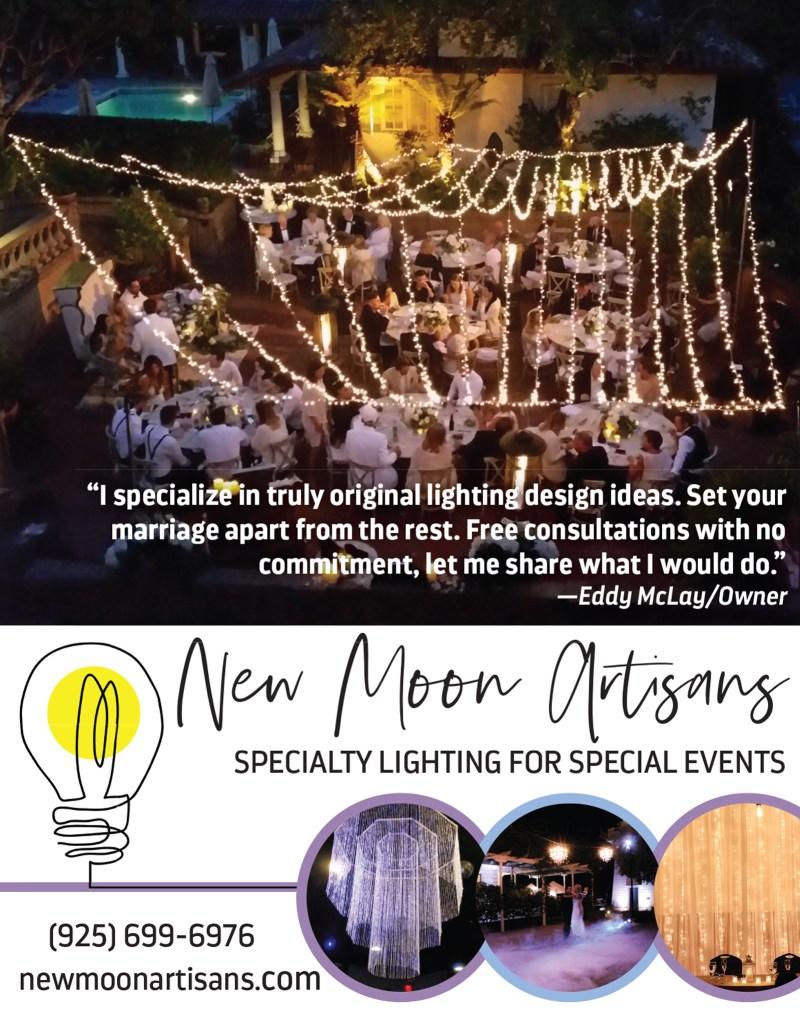 New Moon Artisans - Sacramento Bay Area Wedding Market Bistro Up-Lighting