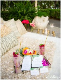 Tropical Paradise for Real Weddings Magazine. Photographed by Ashley Teasley Photography on location at Hyatt Regency Sacramento.