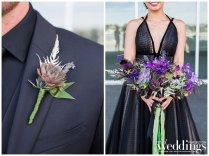 Dark Moody Wedding | Black Wedding Dress | Vallejo Wedding | Darci Terry Photography