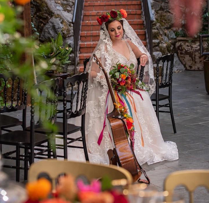 Spanish Influenced Wedding Styled Shoot-Churros-Veil-Bride