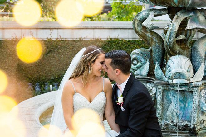 Amanda & Roger | Sacramento Aren Hills Wedding | Temple Photography | Pink and Gold Glam Wedding Inspiration