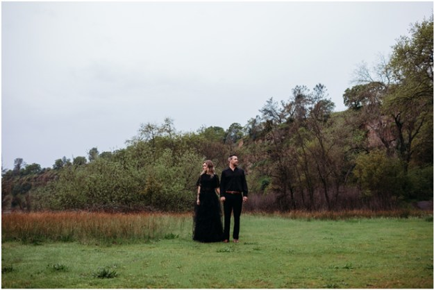 Black Bridal Dress-Moody Styled Shoot Elopement-Sacramento Tahoe Wedding Photography