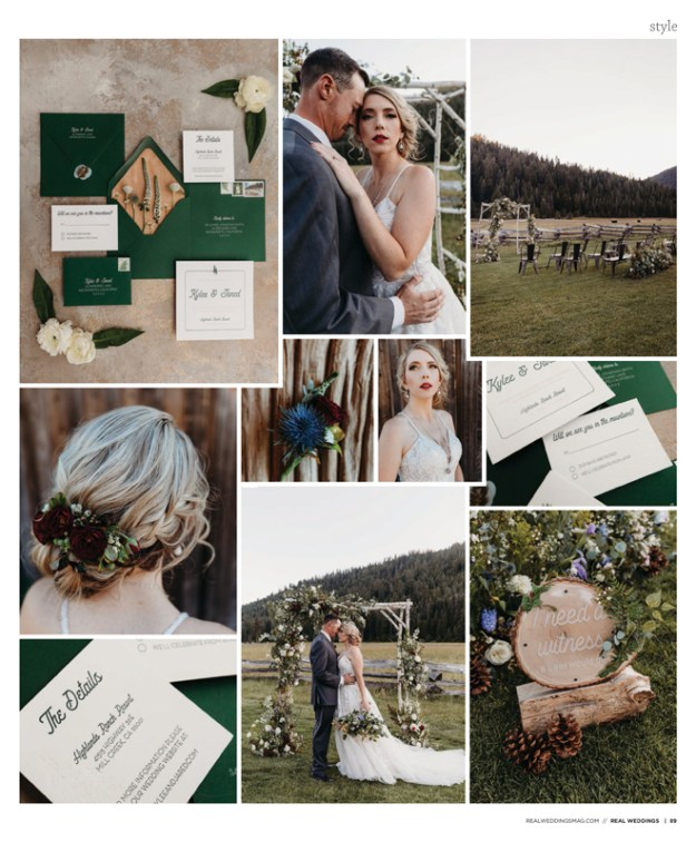 Sacramento Tahoe Lassen Forest Styled Shoot | Amour Flowers & Bridal | Highlands Ranch Resort | Real Weddings Magazine