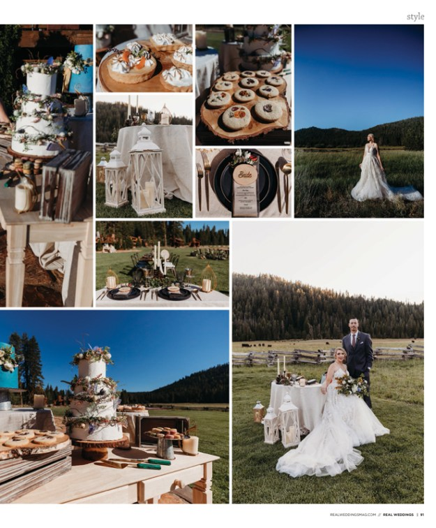 Sacramento Tahoe Lassen Forest Styled Shoot | Diamond Bridal Gallery | The Clothes Mine | Real Weddings Magazine