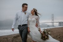 Windswept Beach Elopement on Baker Beach