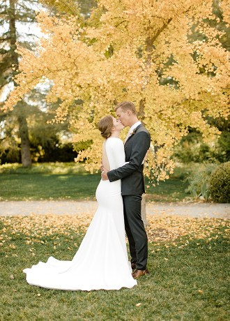 Elegant Fall Park Winters Wedding Hailey Ayson Photography Mia and Kevin