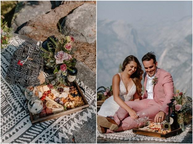 Sacramento Tahoe Adventure Wedding Styled Shoot | Northern California Elopement Inspiration | Yosemite Glacier Point Microwedding Styled Shoot