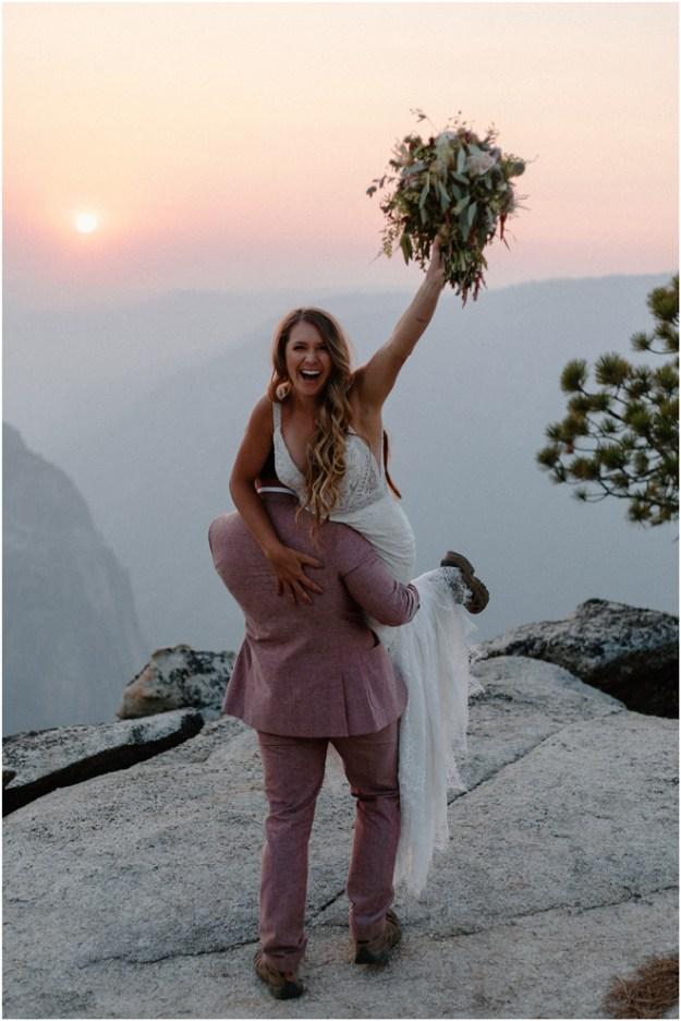 Epic Yosemite Taft Point Elopement Styled Shoot | Sacramento Tahoe Adventure Wedding Styled Shoot | Northern California Elopement Inspiration