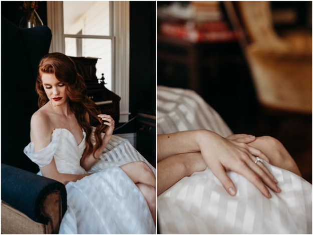 Bridal Hair & Makeup | Winter Wedding Inspiration Styled Shoot | Elopement | Micro-Wedding | Sacramento Auburn Intimate Event Venue Park Victorian