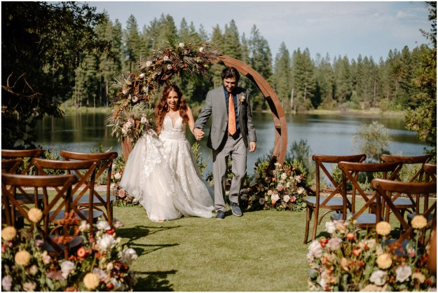 Fall Inspired Minimony MIcro Wedding Styled Shoot | Intimate Lakeside Ceremony Planning