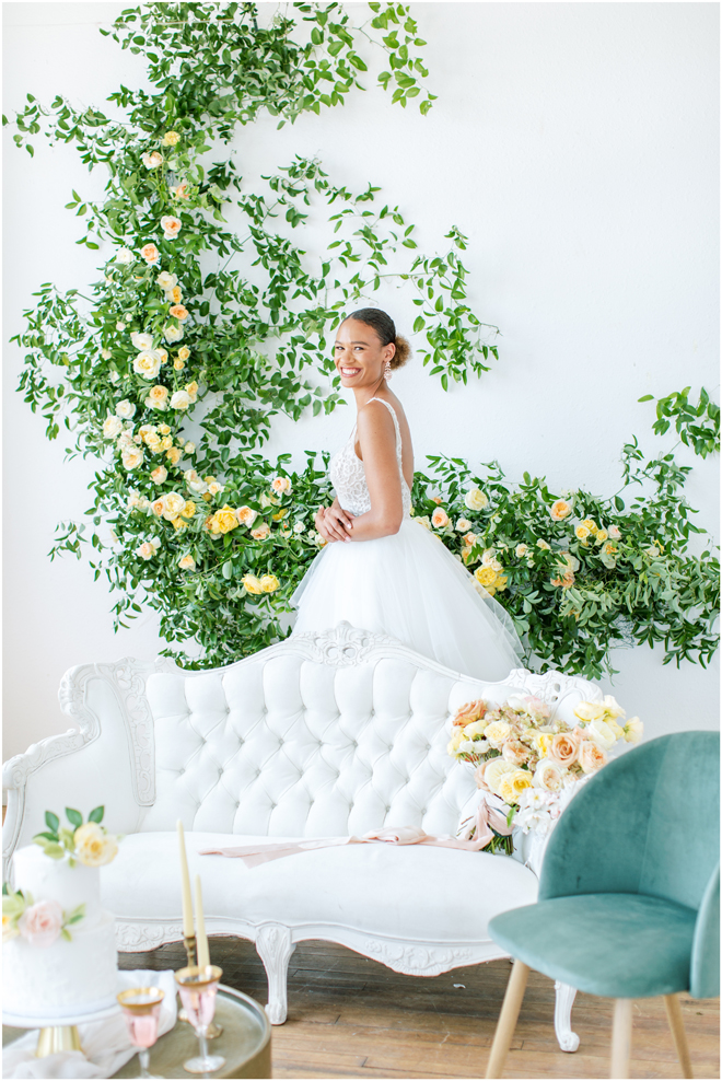 Modern Garden Romance Wedding Inspiration Styled Shoot | Industrial Elegance Decor | Sacramento Bay Area San Francisco