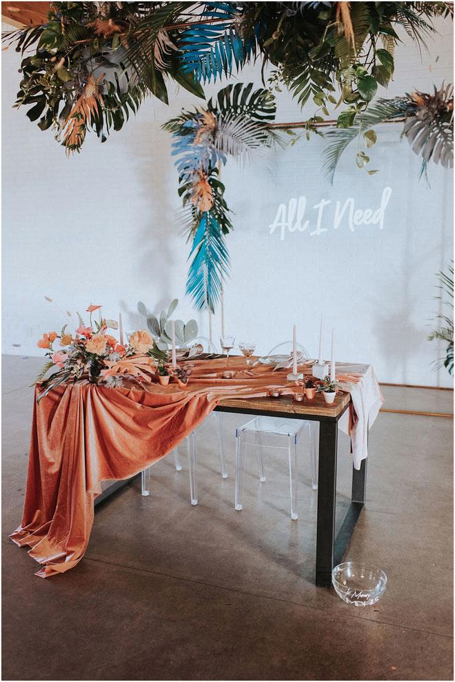 Wander Love Photography Alexis and John Modern Botanical Wedding BLOC Venue Roseville