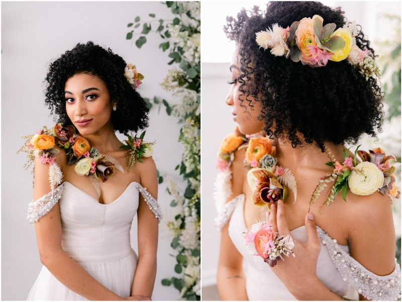 Bridal Hair Flowers - Sacramento Wedding Styled Shoot - Flourish - Bloom Phtoography