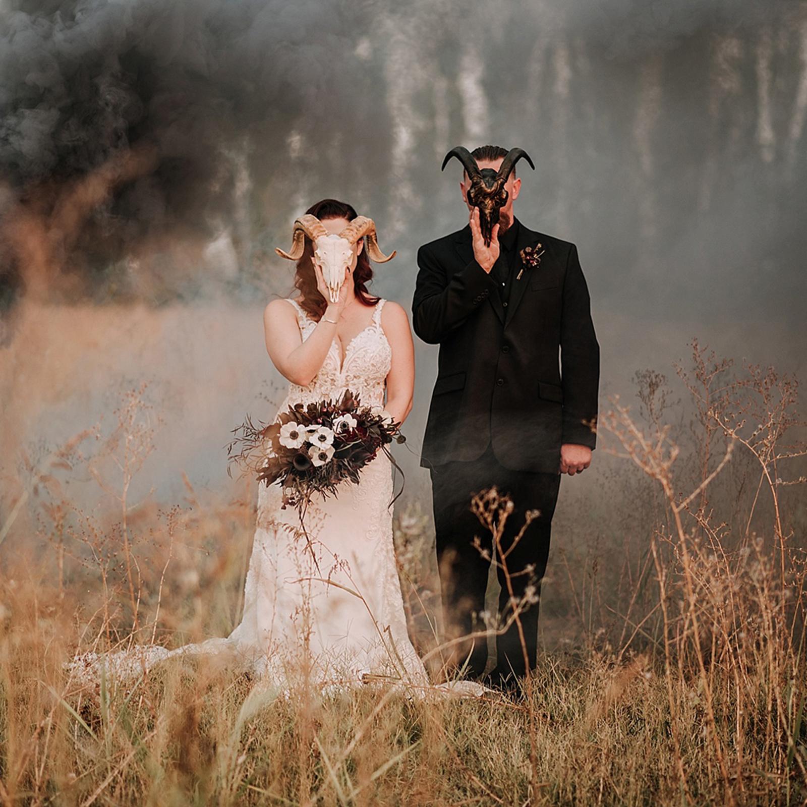 Carrie Ayn Photography Theresa & Kristopher Fall, Dark, Moody Wedding
