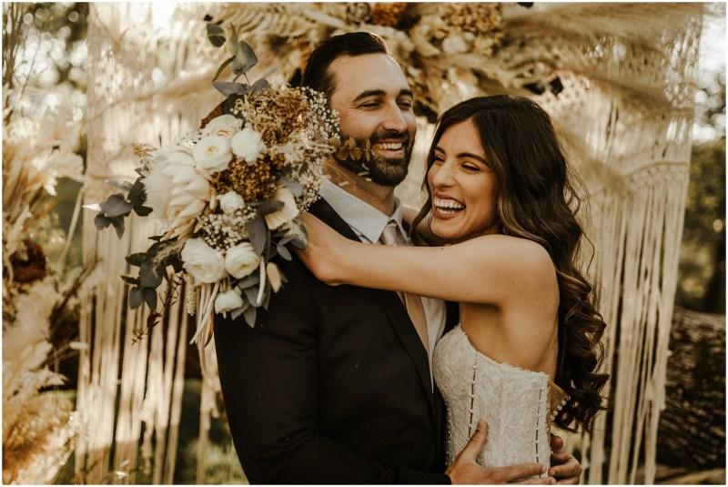 Boho Rustic Romantic Bridal Gold Hill Gardens Sacramento Wedding Venue