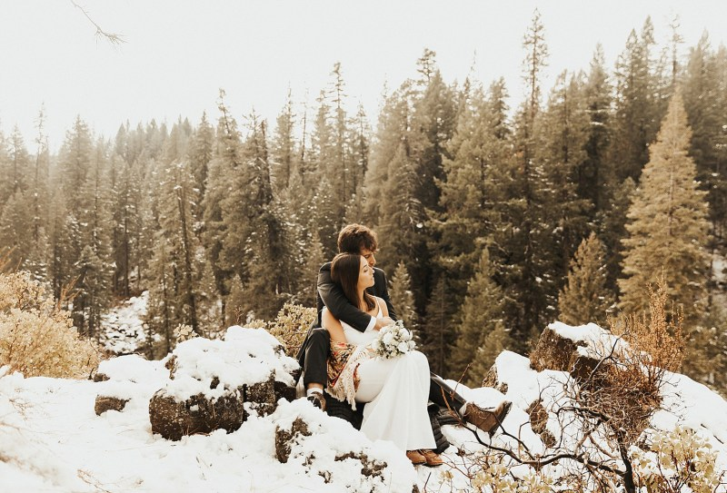 Macy Sheaman Photography Jessica and Tal Mt Shasta Elopement in Winter