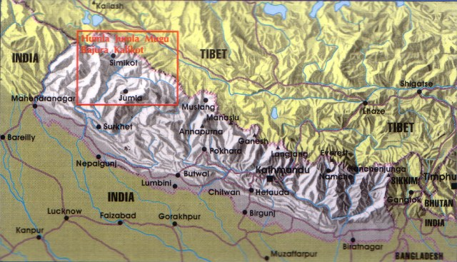 Nepal Rara Area Map