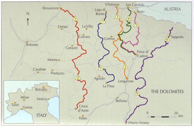 Alta Via routes