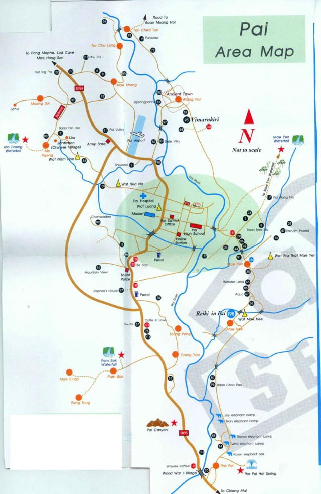 Pai Ride Map