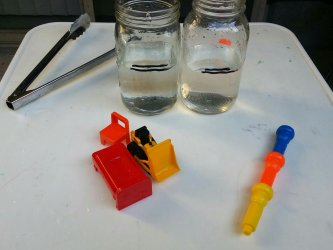 The results of our simple science water displacement experiment