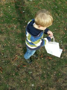 fall crafts with kids | hunting for autumn leaves