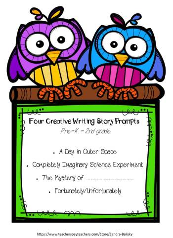 Free printable set of creative writing story templates for kids Pre-K - 2nd grade (and up!). (Cover page)