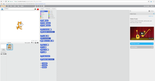 screenshot of the script area of a Scratch coding page