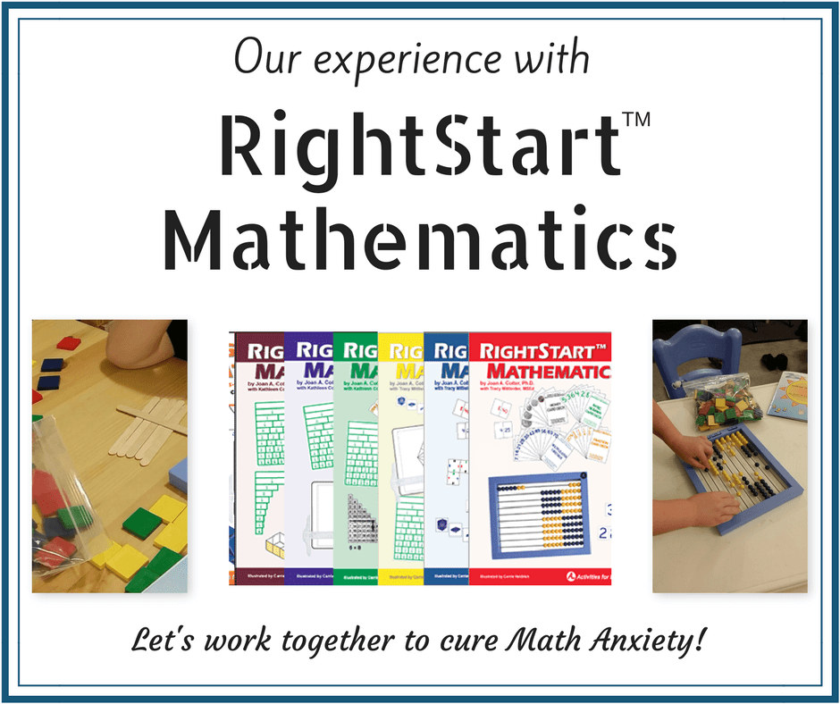 How the RightStart Mathematics Curriculum can help eliminate Math Anxiety