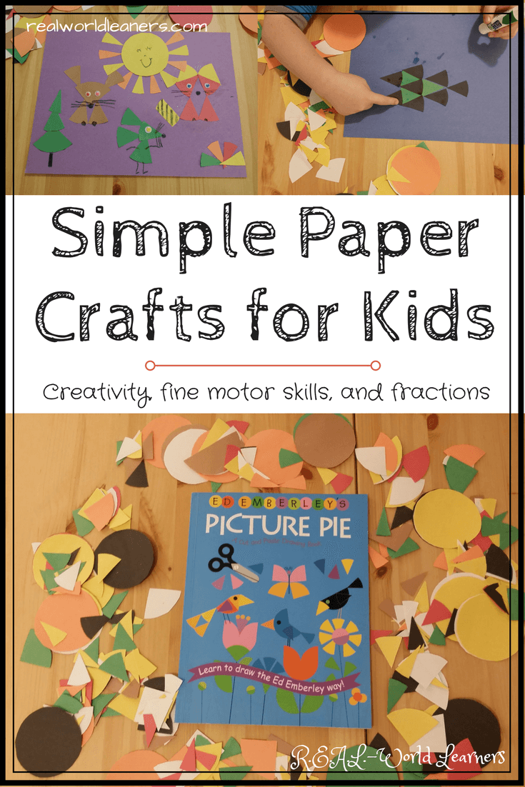 Paper crafts for kids using fraction circles