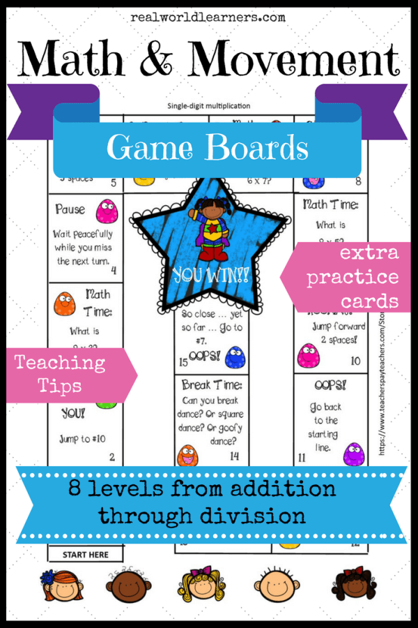 Math Game Boards for addition through division ⋆ R.E.A.L.-World ...