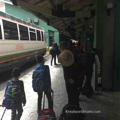 Arriving to Aquas Calientes train station