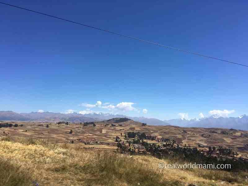 Peru with kids: Chincheros' view