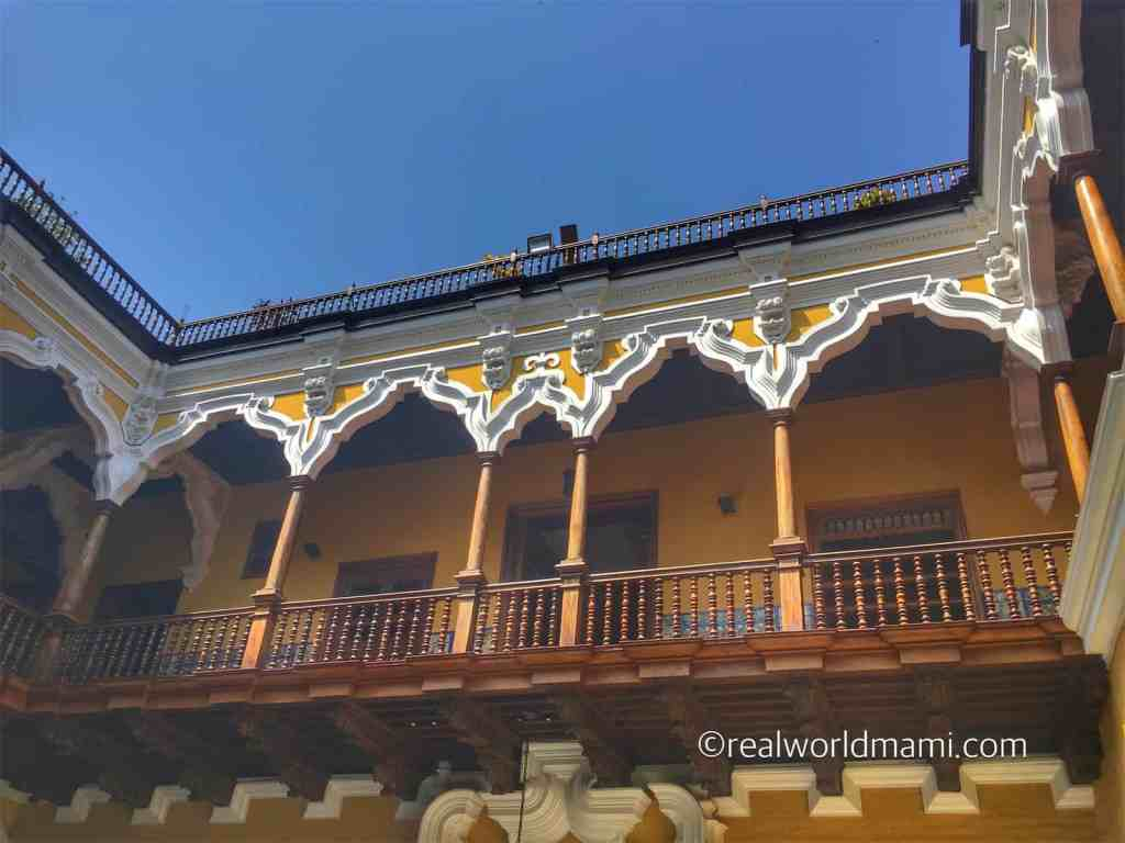 Casa Aliaga is a beautiful building along Iron de la Union