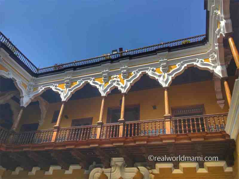 Casa Aliaga is a beautiful building along Iron de la Union