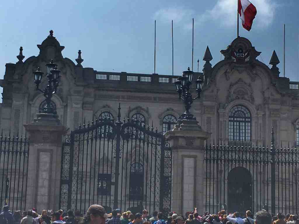 Fun with family. Lima Peru with kids. Government Palace