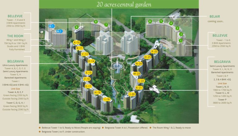 Central Park II Resorts The Room Gurgaon, Sohna Road Apartment, Residential-Floor-P